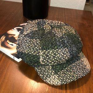 Woven Tweed Unisex Newsboy Cap